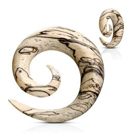 Piercing écarteur spirale en bois de tamarin