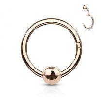 Piercing anneau boule avec charnière acier rosé