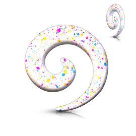 Piercing écarteur spirale tâches
