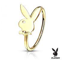 Piercing nez anneau pliable Playboy doré