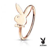 Piercing nez anneau pliable Playboy rosé
