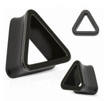 Piercing plug acrylique noir triangle