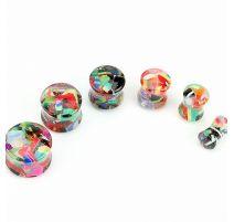 Piercing plug acrylique candy