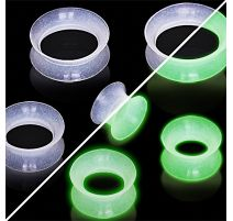 Piercing tunnel silicone glow in the dark