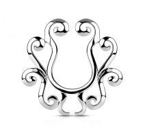 Faux piercing téton floral