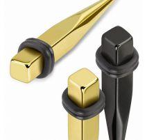 Piercing écarteur carré acier anodisé