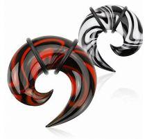 Piercing écarteur oreille spirale verre zébré