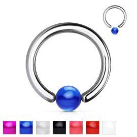 Piercing anneau boule acrylique
