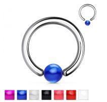 Piercing anneau boule acrylique violet