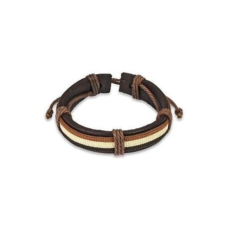 Bracelet Homme en Cuir Marron 3 Couleurs