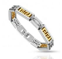 Bracelet acier inoxydable Labyrinthe Tribal
