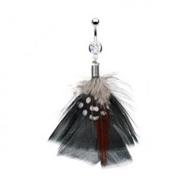 Piercing nombril Plumes