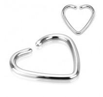 Faux Piercing Oreille Cartilage Coeur