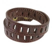 Bracelet Homme en Cuir Marron Fentes