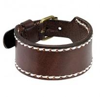 Bracelet Homme en Cuir Marron Large