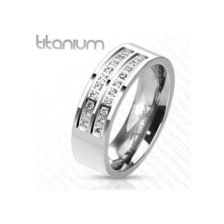 Bague Titanium Gemmes