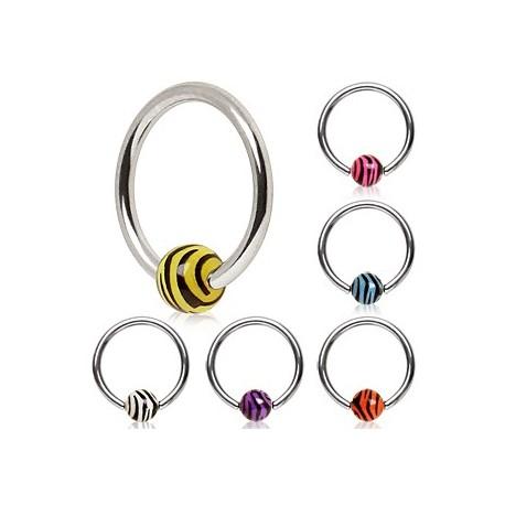 Piercing anneau Captif Bille Zébrée