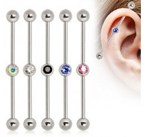 Piercing Industriel Strass