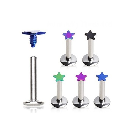 Piercing Labret Etoile Titanium