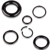 Piercing anneau segment noir