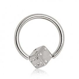 Piercing anneau captif dé