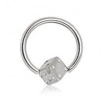 Piercing anneau captive dé