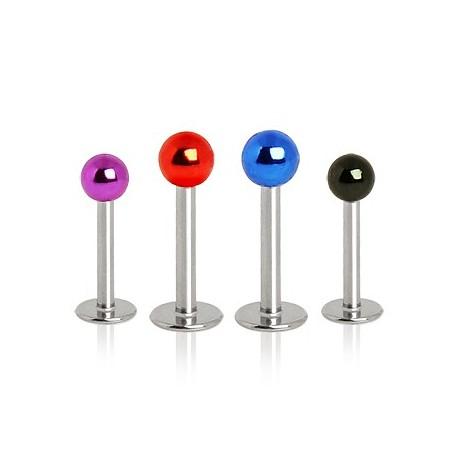 Piercing labret boules métalliques