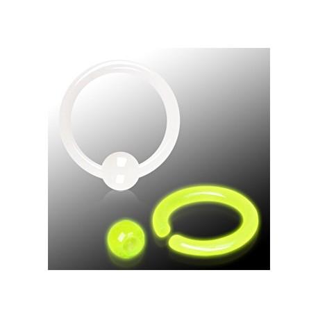 Piercing anneau boule glow in the dark