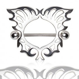 Piercing téton bouclier papillon