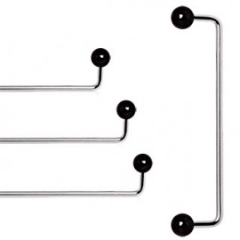 Piercing agrafe 90° boules titane noir