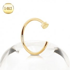 Piercing nez anneau or 14K