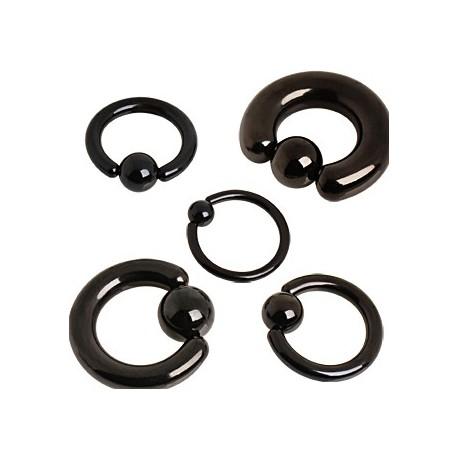 Piercing anneau captif noir