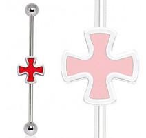 Piercing industriel croix celtique