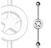 Piercing industriel logo étoile
