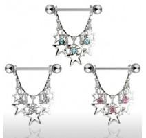 Piercing téton étoiles