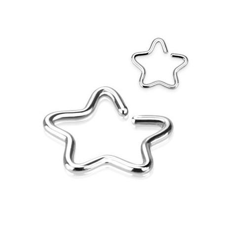 Faux piercing oreille étoile