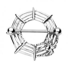 Piercing téton toile araignée