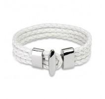 Bracelet cuir blanc 4 cordes