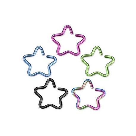 Faux piercing oreille étoile titane
