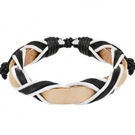 Bracelet cuir homme 3 tons
