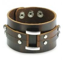 Bracelet homme cuir marron ceinture