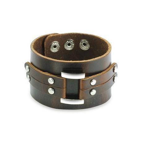 bracelet homme cuir marron ceinture. Black Bedroom Furniture Sets. Home Design Ideas