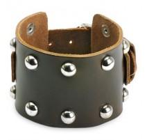 Bracelet homme cuir marron domes