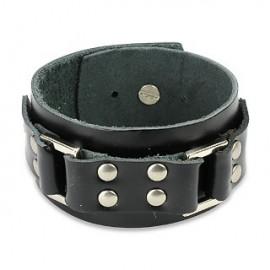 Bracelet cuir noir ceinture