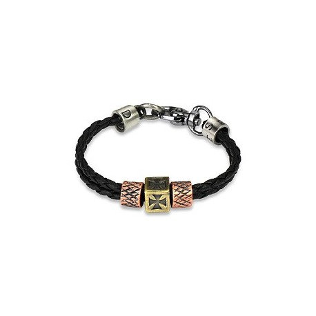 Bracelet homme cuir croix celtique