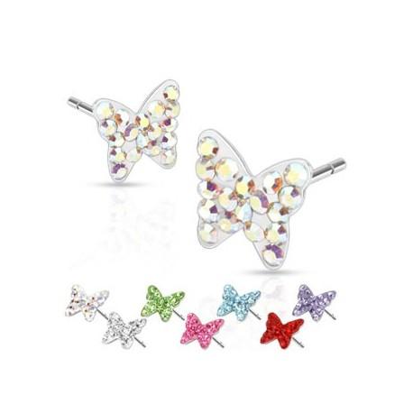 Paire boucles d'oreille papillon