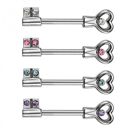 Piercing téton clef coeur