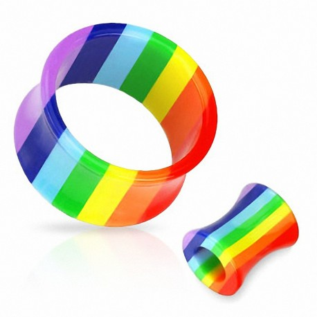 Piercing Tunnel Acrylique Gay Pride