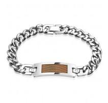 Bracelet gourmette homme acier