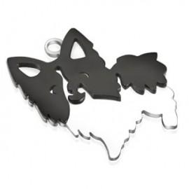 Pendentif acier chien
